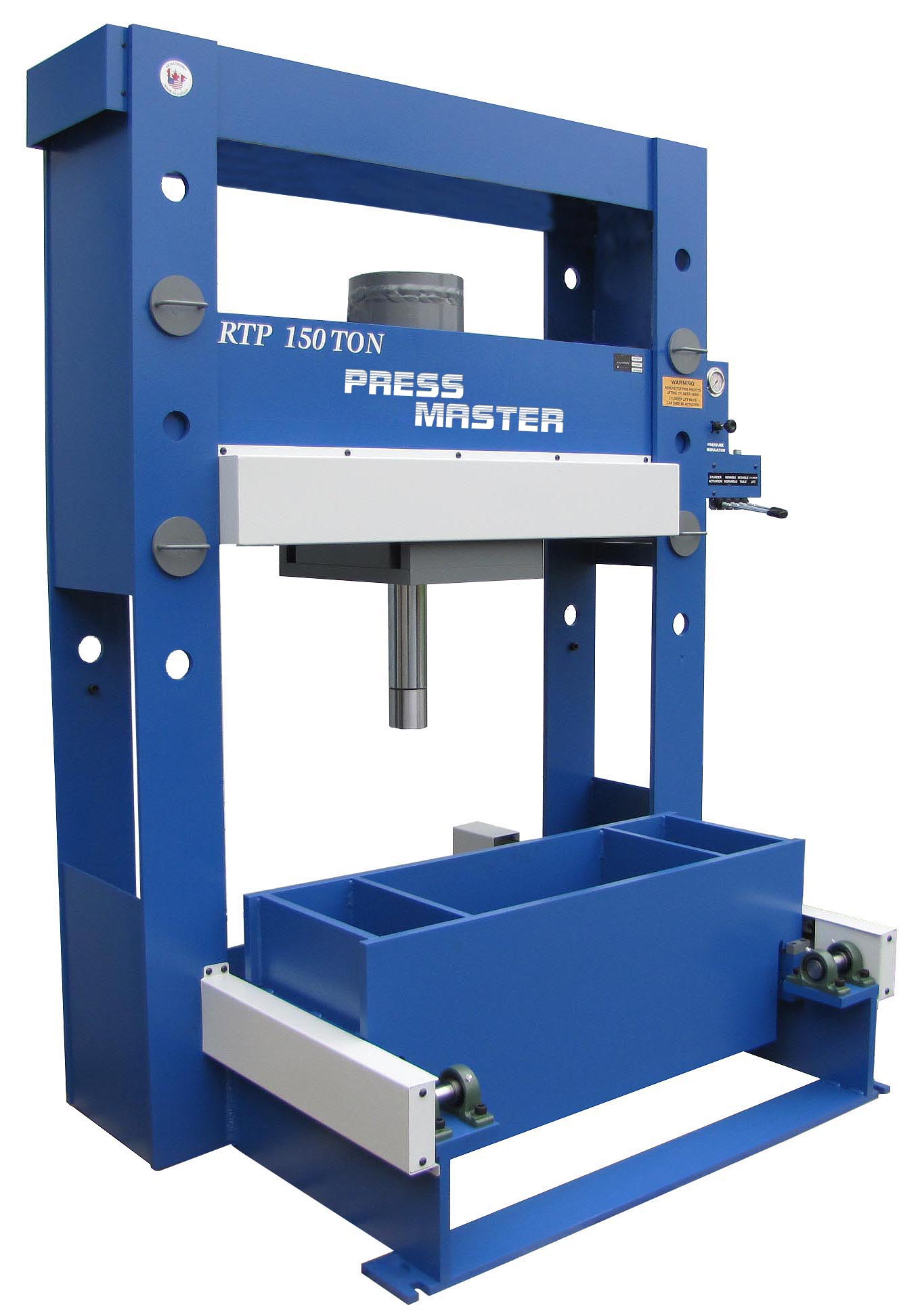 Press Master Roll-In table Hydraulic Press 150 ton